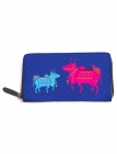 Graphic Cow Full Zipper Wallet