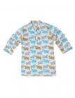 Graphic Cow Kids Kurta Pyjama