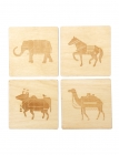 Dandy Animals Wood Coaster