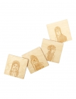 Womenfolk Wood Coaster