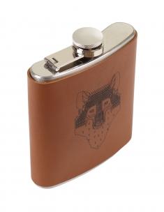 Wolf Hip Flask