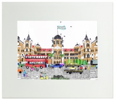 Victoria Terminus Mounted Art