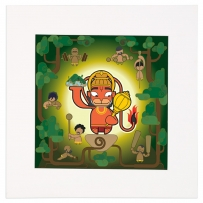 Hanuman Mounted Art