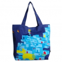 Blue City Bellow Bag