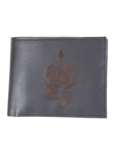 Skull Mens Leather Wallet