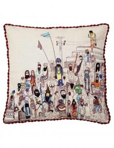 Ghat Emb. Cushion Cover