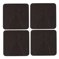 Nandi Leather Coaster