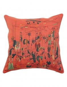 Sangha Emb. Cushion Cover