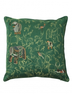 Jungle Emb. Cushion Cover