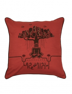 Padmasana Emb. Cushion Cover