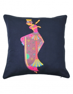 Kuchipudi Emb. Cushion Cover