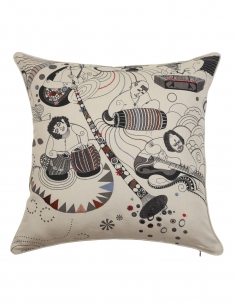Sangeetkar Emb. Cushion Cover