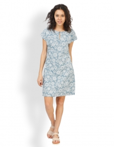 Floral Moth Straight Dress