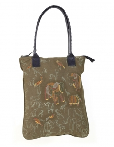 Jungle Emb Tote bag