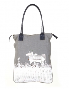 Dandy Cow Emb Tote bag