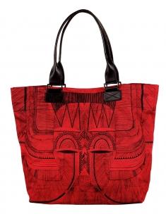 Tribal Mask Bucket Bag