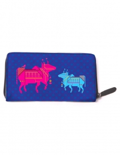 Graphic Cow Full Zipper Wallet