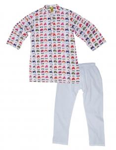 Pagdi Kids Kurta Pyjama