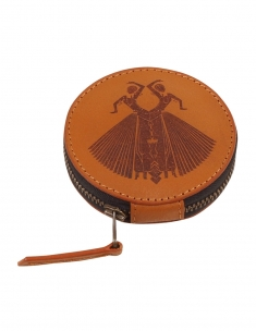 Odissi Leather Circle Case