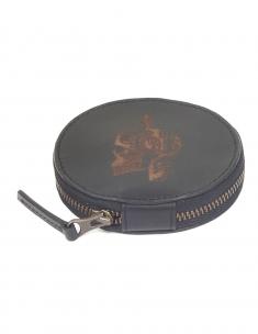 Skull Leather Circle Case
