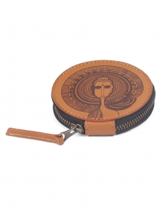 Buddha Leather Circle Case