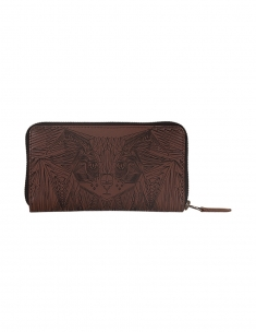 Cat Leather Emb Wallet