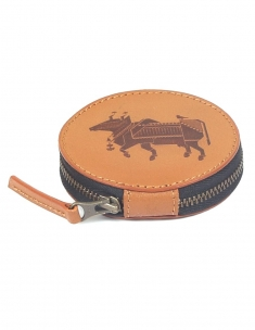 Dandy Cow Leather Circle Case