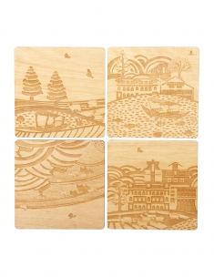 Kashmir Wood Coaster