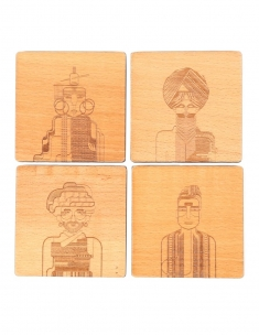 Mensfolk Wood Coaster