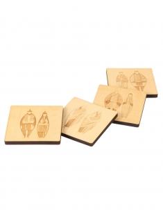 Happy Tribe Wood Coaster