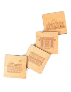 Monuments Wood Coaster