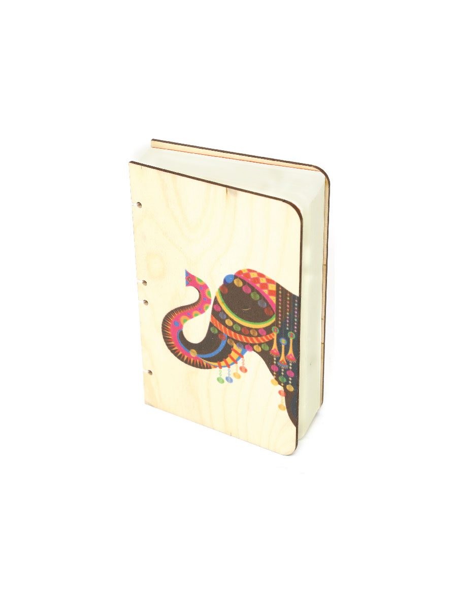 Royal Elephant Bahi Wood Journal