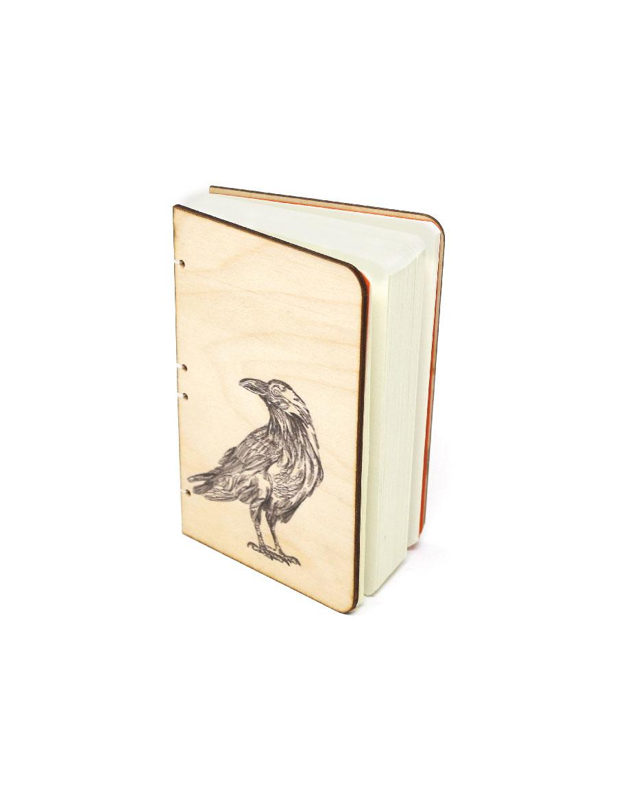 Crow Bahi Wood Journal