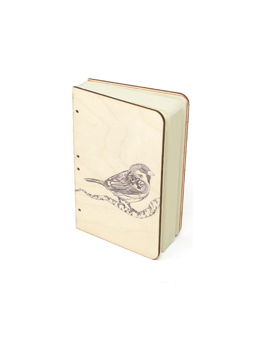 Sparrow Bahi Wood Journal