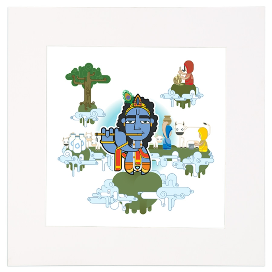 Krishna Mounted Art