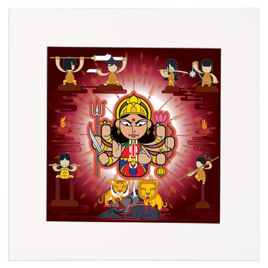 Durga Mounted Art