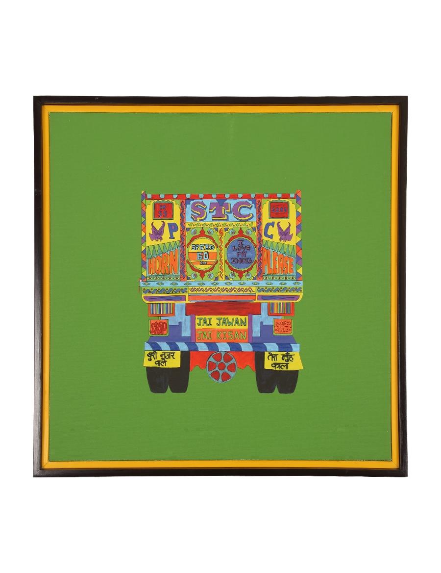 Truck Peeche Canvas Art