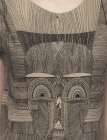 Tribal Mask Straight Dress