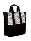 Floral Moth Market Tote Bag