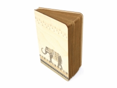 Dandy Elephant wood journal