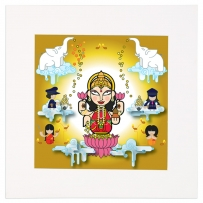 Lakshmi Mounted Art