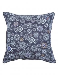 Floral Moth Emb. Cushion Cover