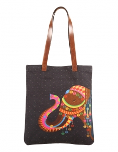 Royal Elephant City Tote Bag