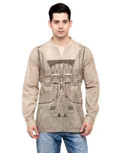 Tribal Mask Kurta Short
