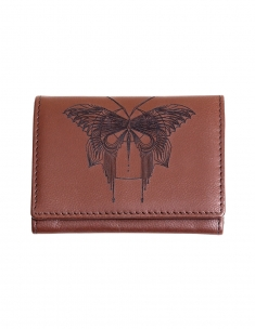 Butterfly Leather Card Wallet